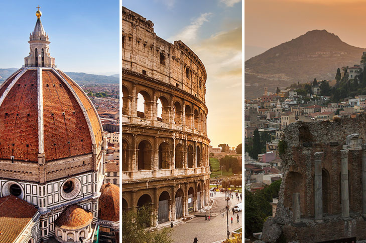 Prebookable Package - Florence / Rome / Mount Etna