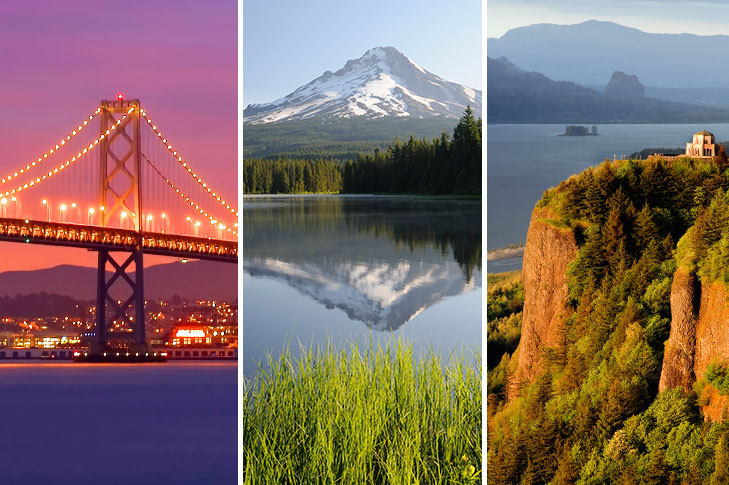 Prebookable Package - San Francisco Evening Tour including dinner / Mount Hood and Columbia River Gorge