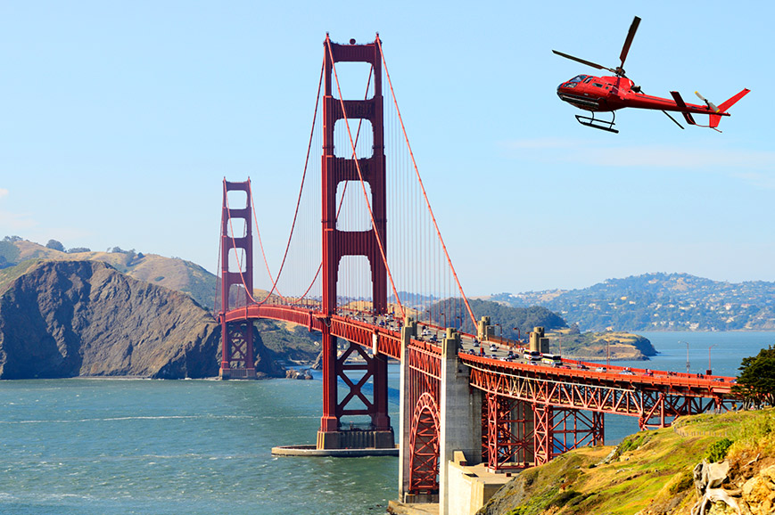 San Francisco helicopter flight
