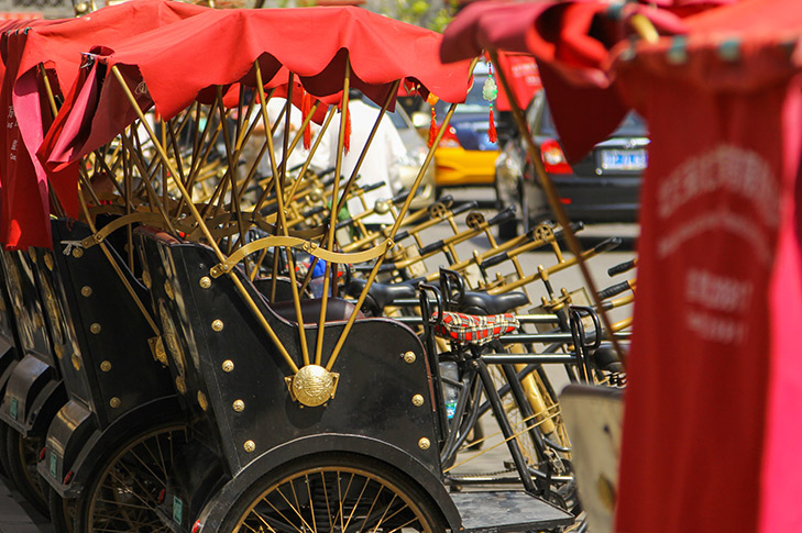 Beijing Hutongs and Rickshaw