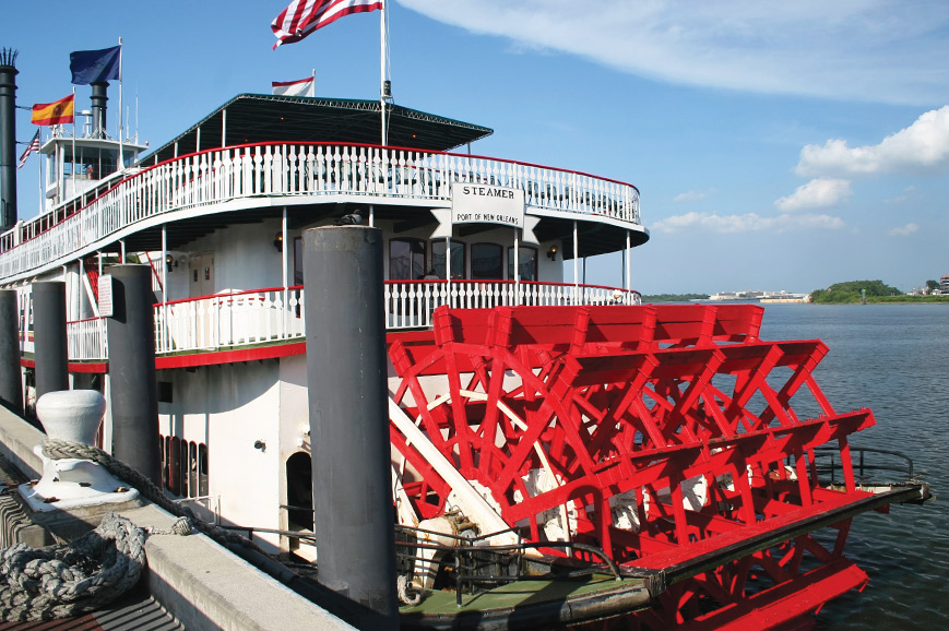 Journey back in time on a New Orleans Paddle Steamer
