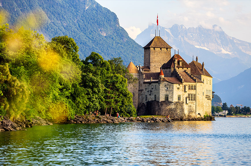 Rochers-de-Naye and Chillon Castle
