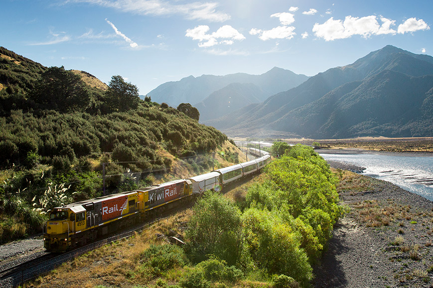 New Zealand - TranzAlpine Train - Christchurch