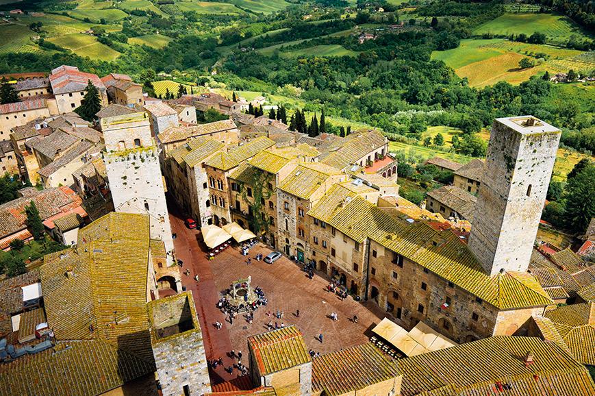 San Gimignano, Badia Isola and Monteriggione including Dinner