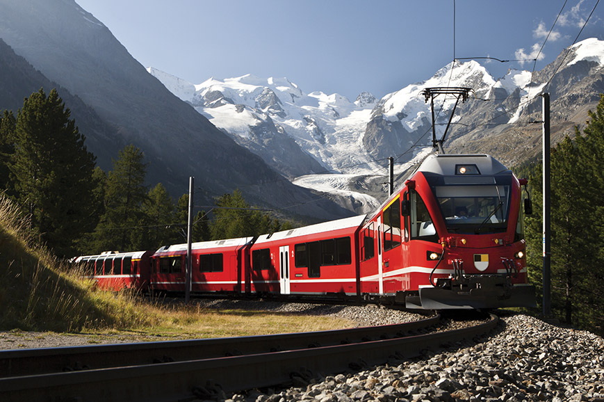 St Moritz and the Bernina Express