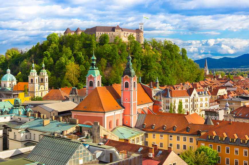 Slovenia - Elegant Ljubljana and its ancient castle