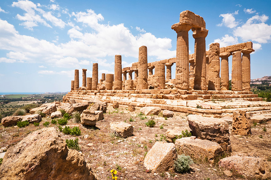 The ancient town of Agrigento