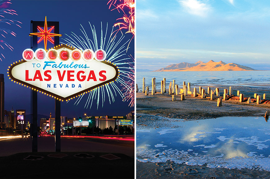 USA Prebookable Package - Great Salt Lake and City / Las Vegas by Night
