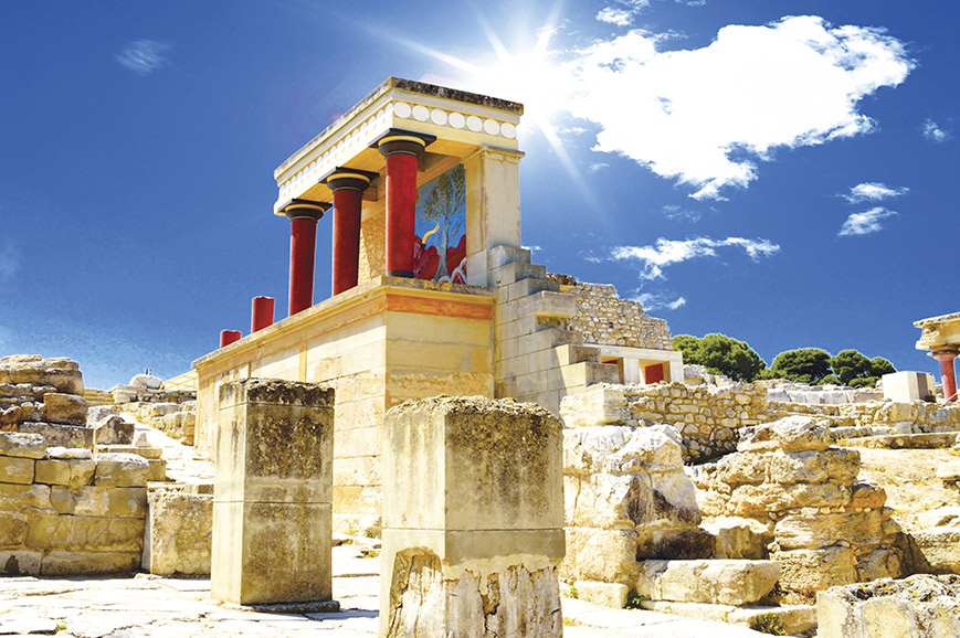Crete - The Palace of Knossos and Cretes capital Heraklion