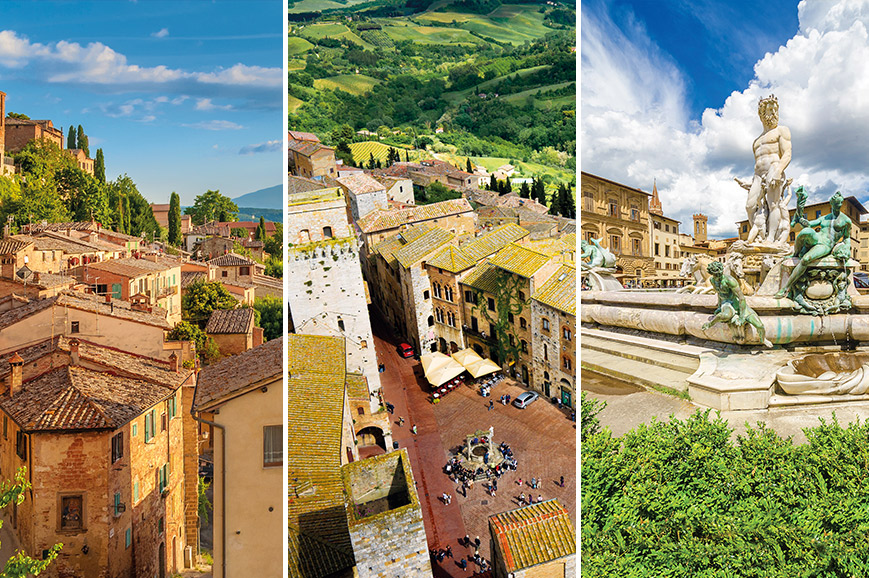 Italy Prebookable Package - San Gimignano, Badia Isola and Monteriggione including Dinner / Explore Florence / Siena and Tuscan Villages