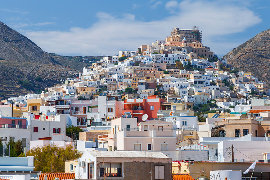 Scenic tour of Syros