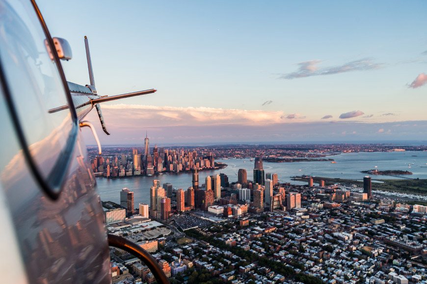 USA - New York  - Helicopter flight over Manhattan