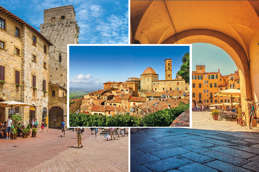 Italy  Prebookable Package - Town tour of Lucca/San Gimignano and Volterra