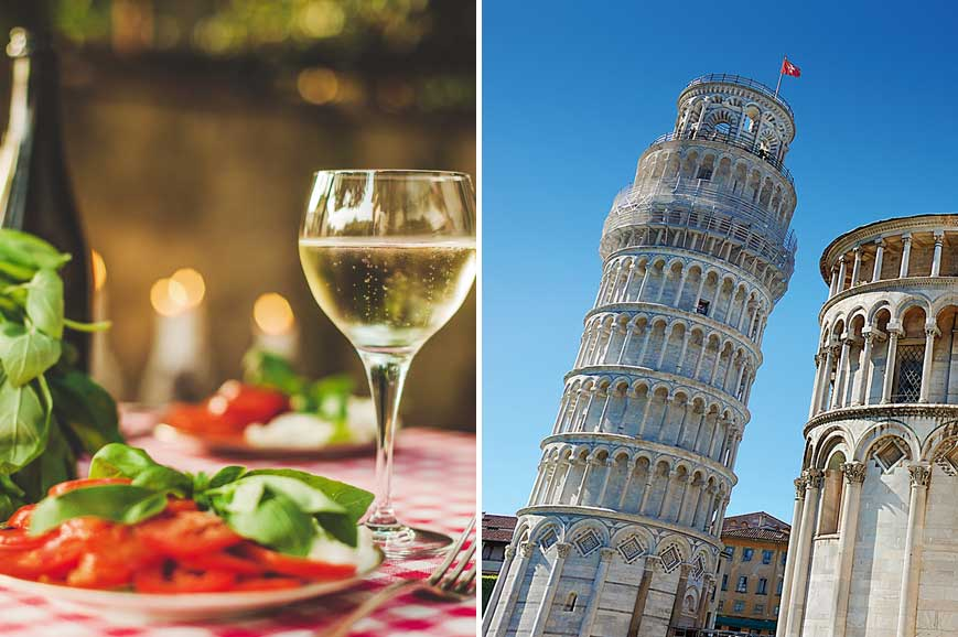 Prebookable Package – Pisa and its Leaning Tower/ Farewell dinner in a local restaurant