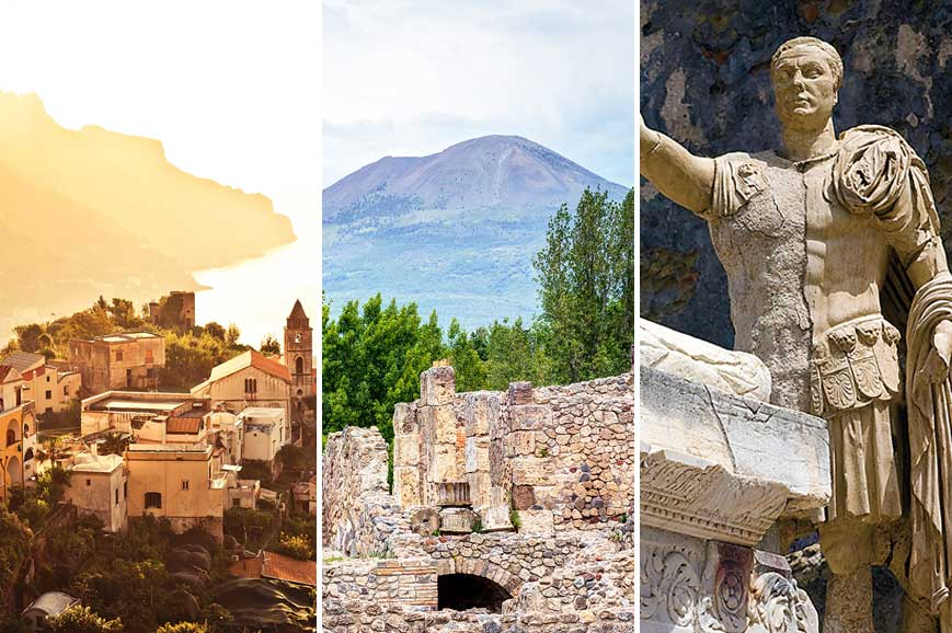 Italy Prebookable Package - Amalfi Coast and Ravello / Mount Vesuvius / Herculaneum