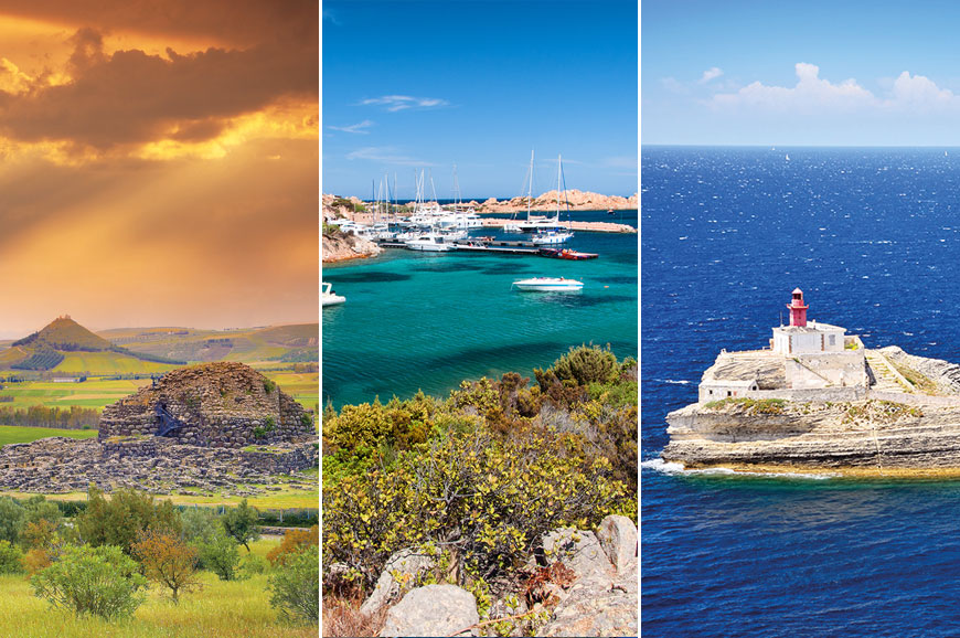 Italy Prebookable Package - Sardinia - Boat Trip to La Maddalenas Islands/ Sardinia - Nuraghi La Prisgiona / Discover the Island of Corsica