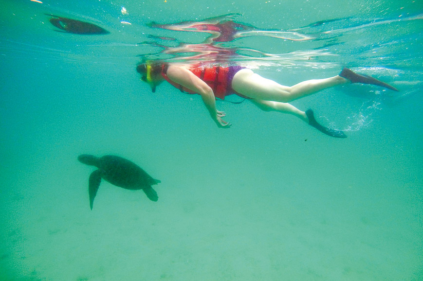 Los Tuneles snorkelling