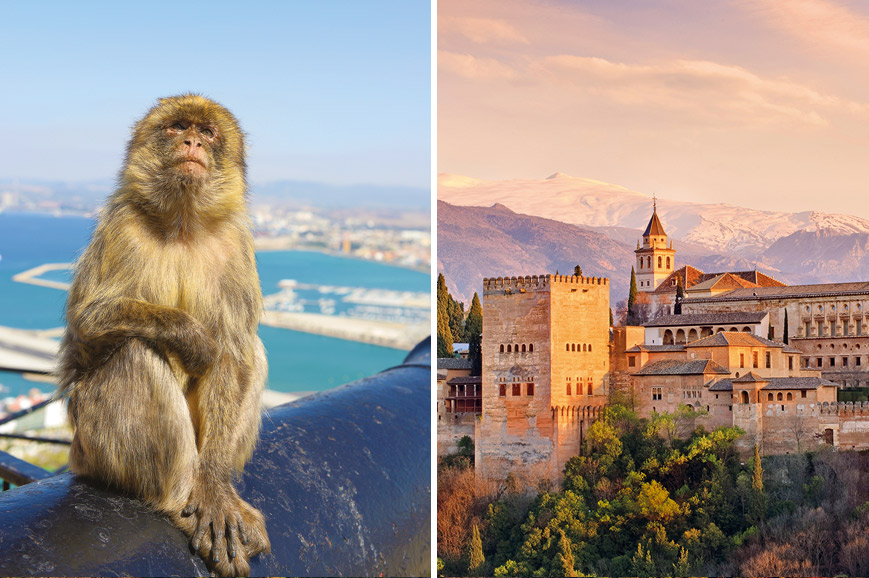 Spain - Prebookable Granada and The Alhambra Palace / Visit Gibraltar