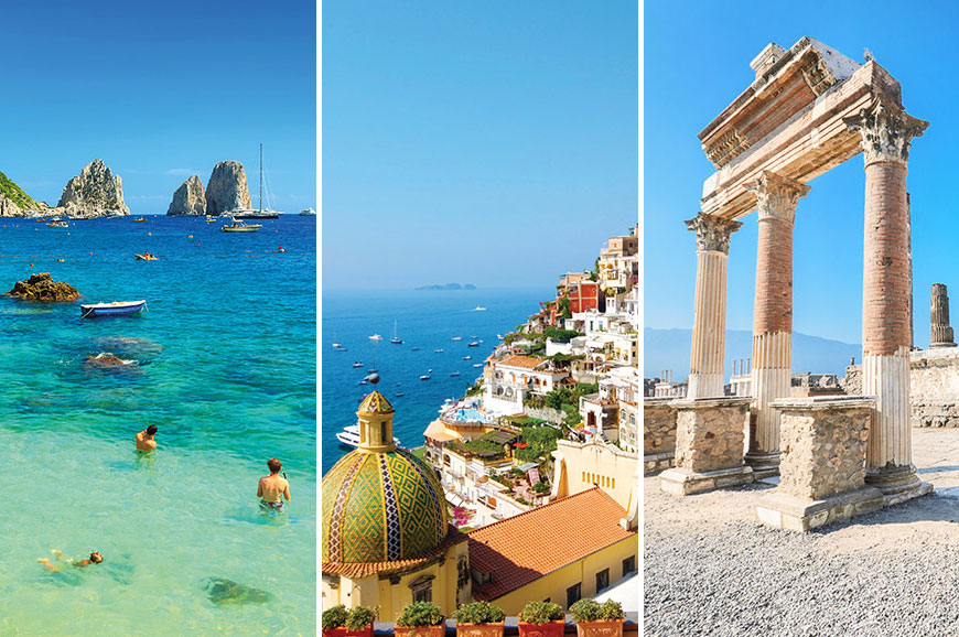 Italy - Prebookable Package - Capri/Positano/Pompeii - The Ruins of Ancient Italy