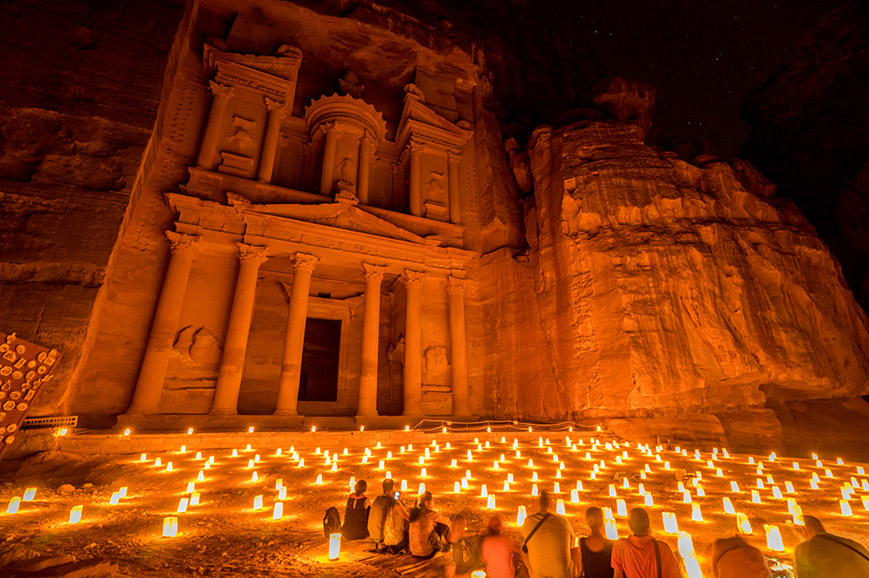 Jordan - Petra at night