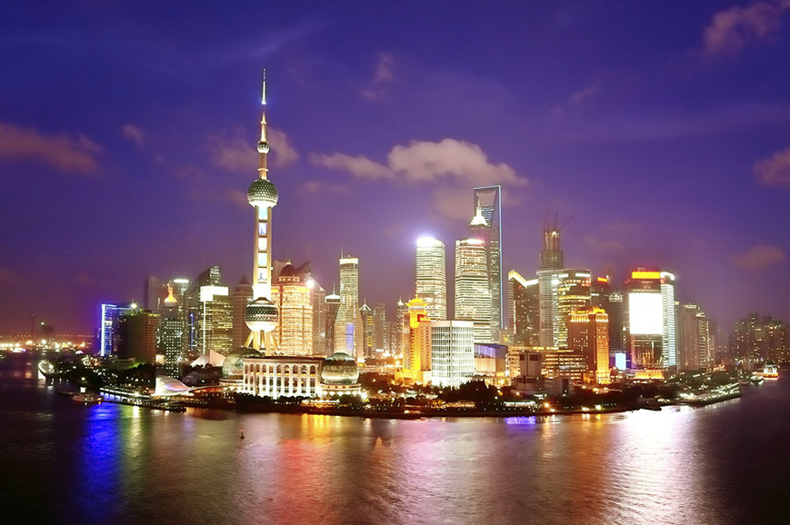 China - Shanghai Cruise by Night