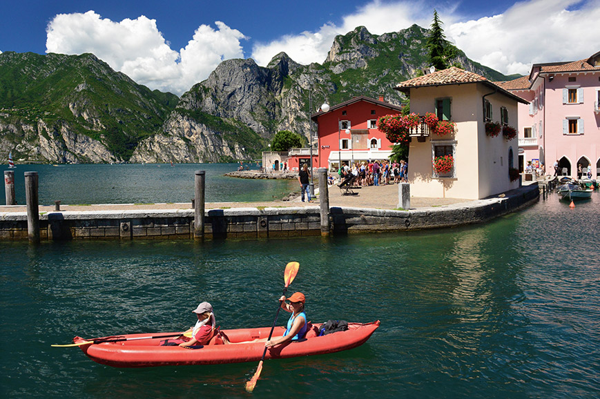 Italy - Kayaking on Lake Garda