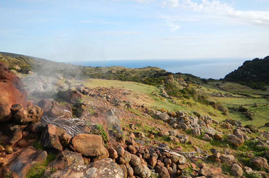 Italy - Hike to the famous Favare natural steam jets