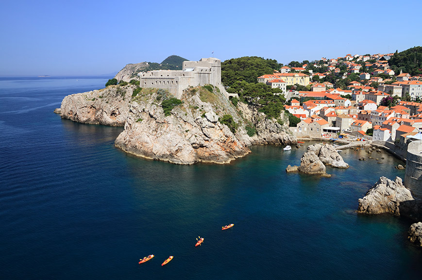 Kayaking Experience around the walls of Dubrovnik