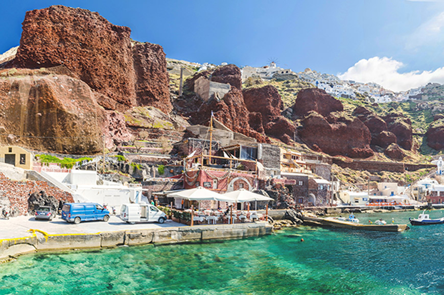 Greece - The archaeological site of Akrotiri and magnificent Oia