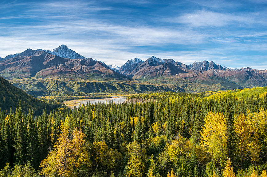 USA - Wrangell St Elias National Park - scenic flight and historic tour
