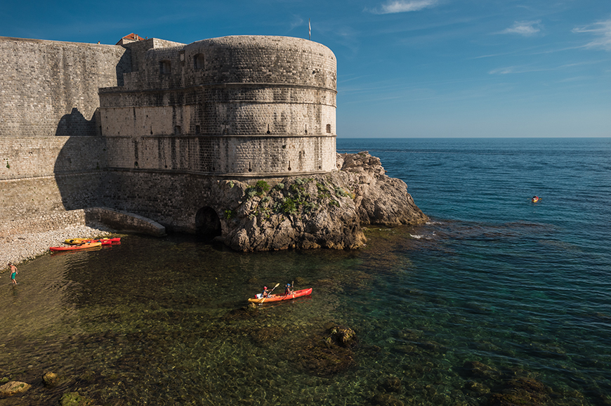 Croatia - Kayaking around the walls of Dubrovnik