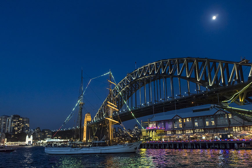 Australia - Sydney - Tallship twilight cruise and dinner on Sydney Harbour