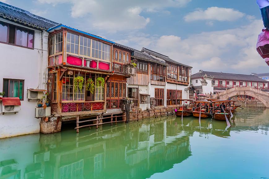 China - Shanghai ancient water town Zhujiajiao
