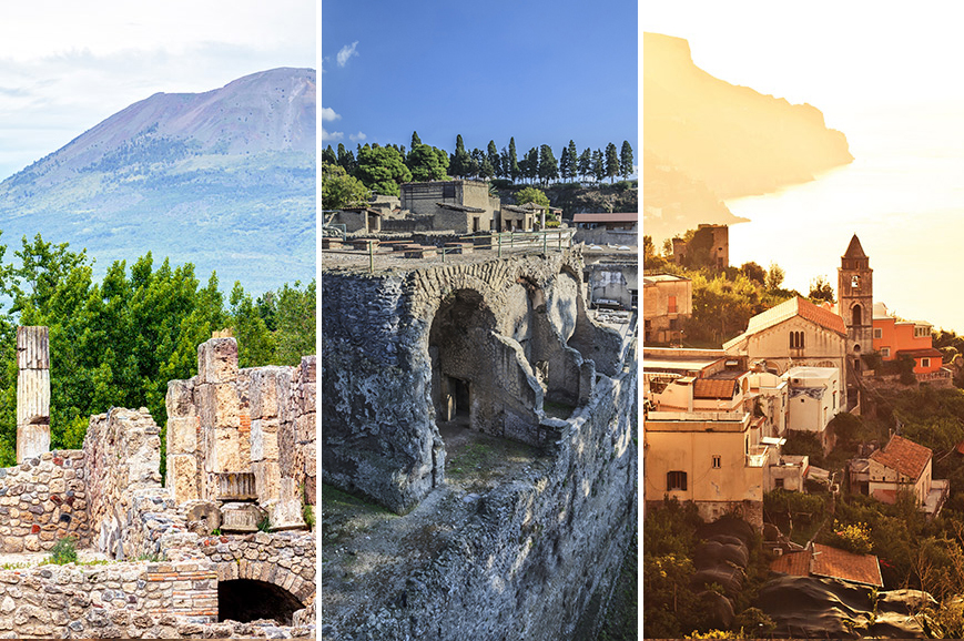 Italy - Prebookable Package - Amalfi Coast and Ravello/ Mount Vesuvius/ Herculaneum with Naples add-on