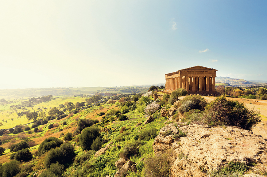 Italy - Agrigento by restored Fiat 500