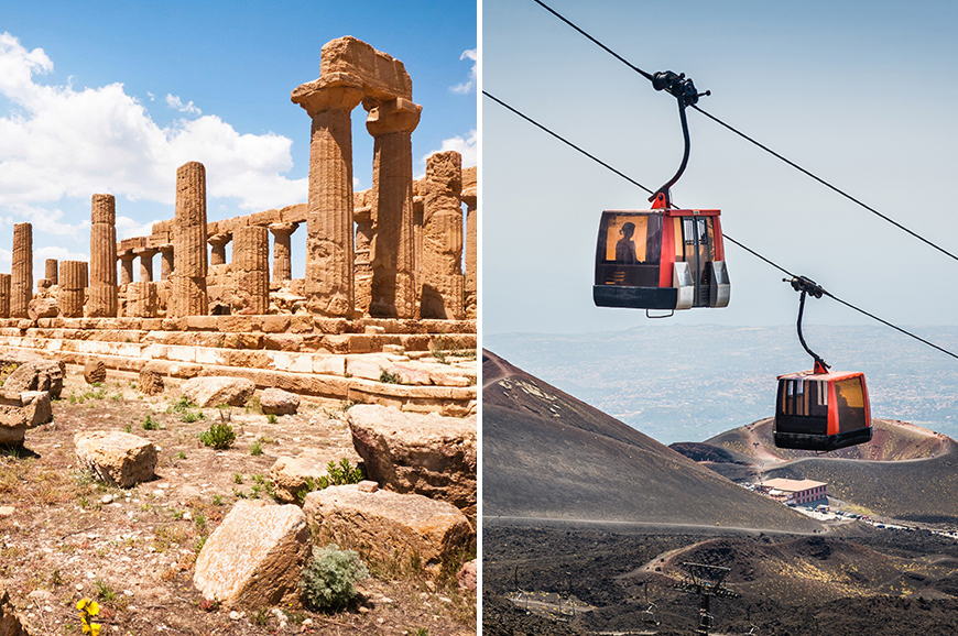Italy - Prebookable Package - The ancient town of Agrigento / Discover Mount Etna by cable car