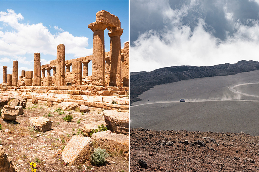 Italy - Prebookable Package - The ancient town of Agrigento / Discover Mount Etna by cable car and jeep
