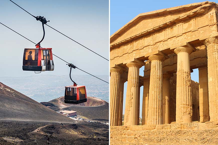 Italy - Prebookable Package - Valley of the Temples / Discover Mount Etna by cable car