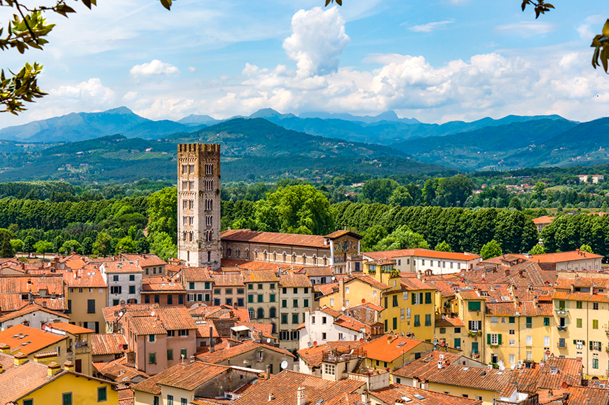 Italy - Pisa and the walled town of Lucca