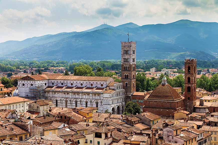 Italy - The fortified town of Lucca