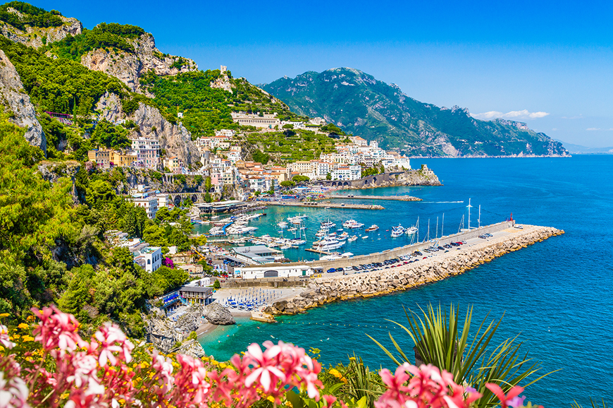 Amalfi Coast and Ravello from Pompeii