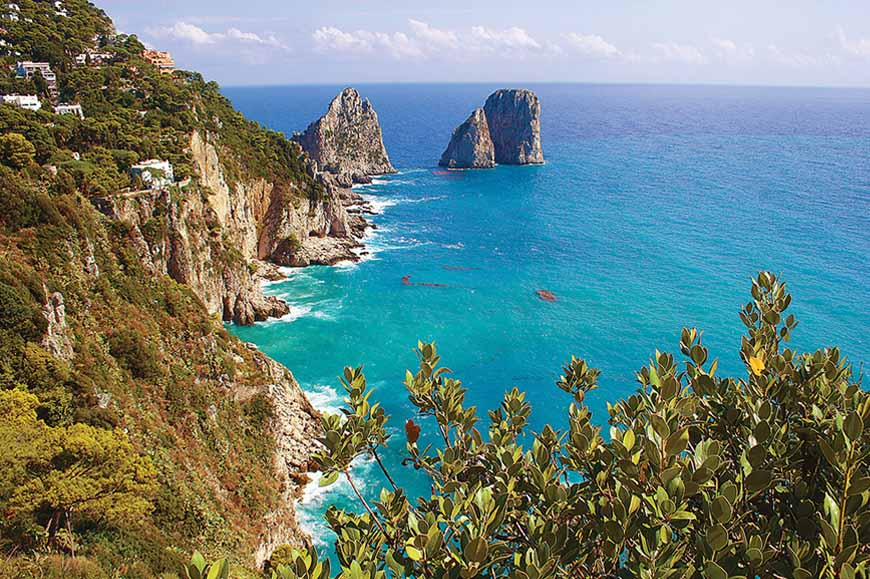 Italy - Capri from Massa Lubrense