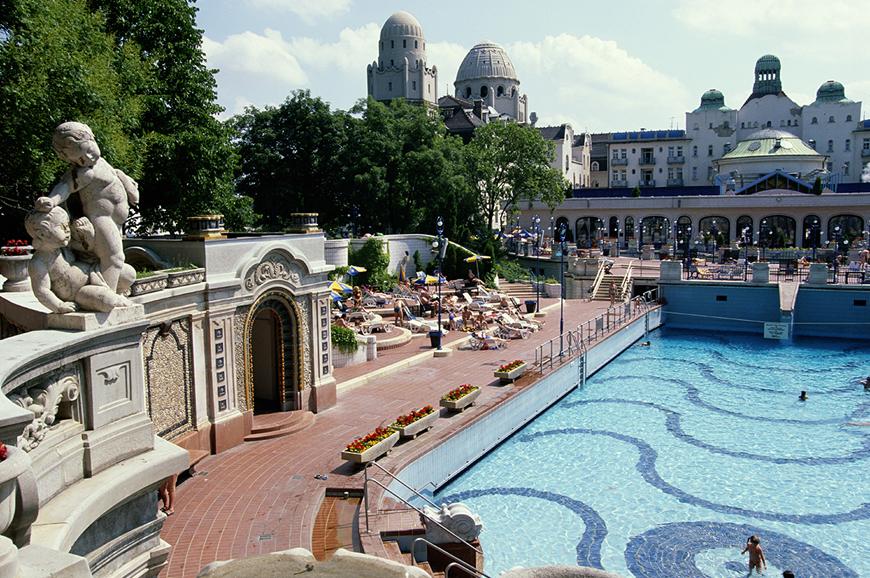France - Strasbourg to Budapest - Gellert Baths