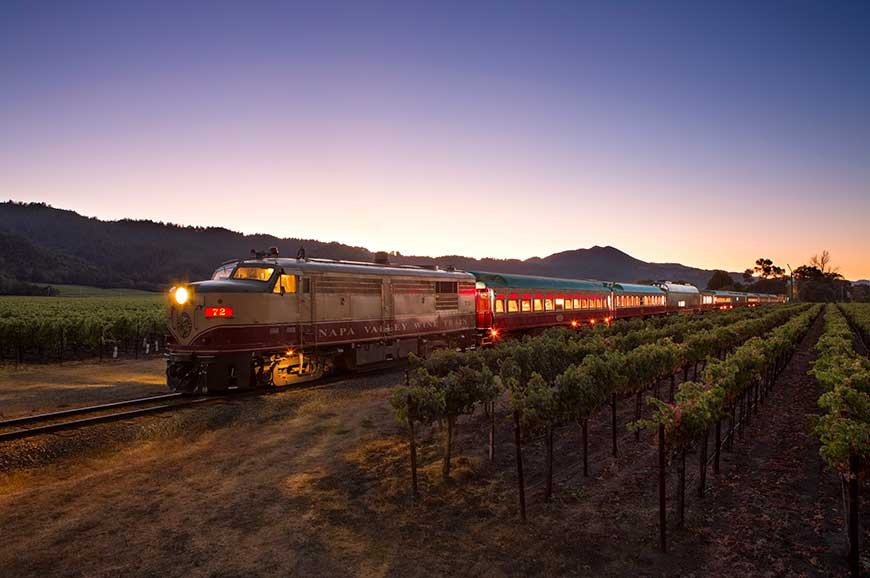 USA - Napa Valley - Dinner on the wine train
