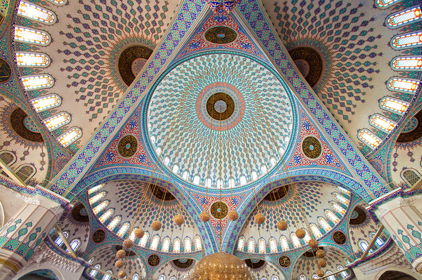 Ceiling of Kocatepe Mosque, Ankara