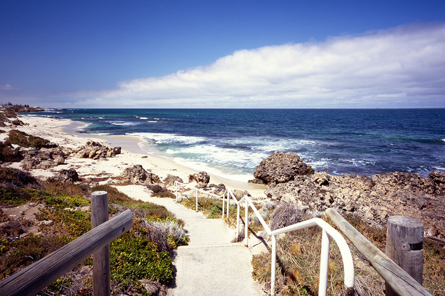 Footpath to the beach, Perth