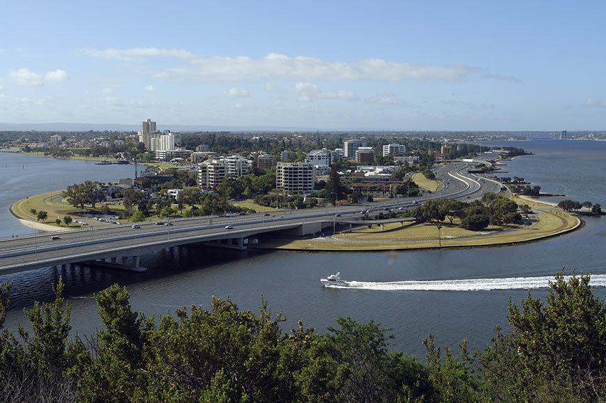 Perth view across Swan River