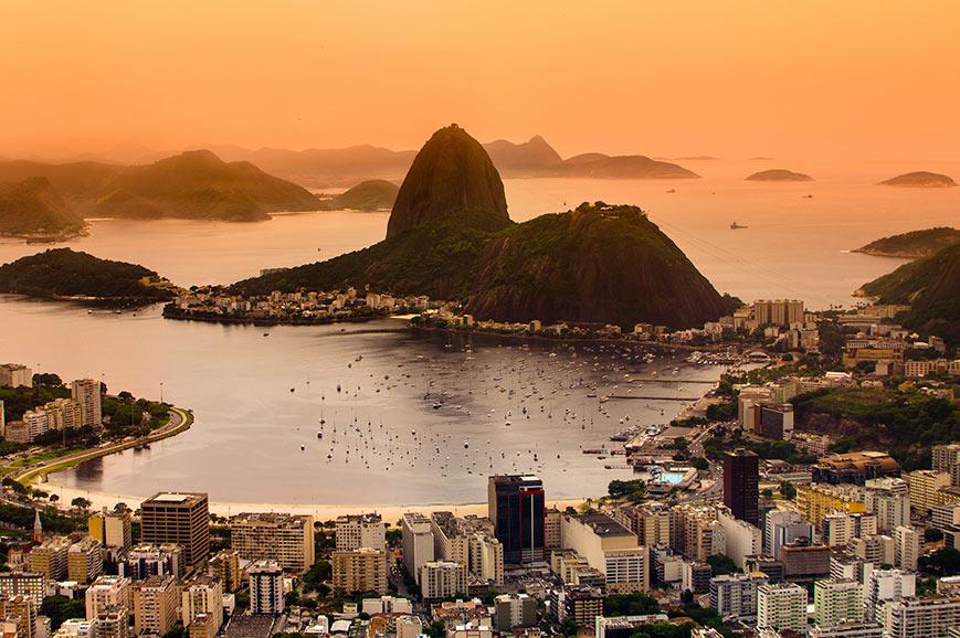 Rio de Janerio aerial view