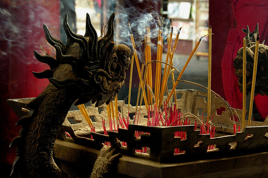 Dragon in a Hanoi temple
