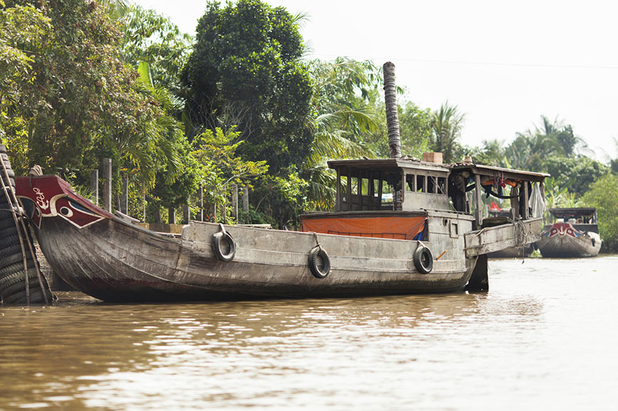 Traditional boat, Cai Be